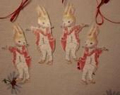 Valentine Bunny ornament gift tag
