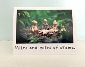 "China Dolls Friendship Card ""Miles of Drama"" Funny Notecard"