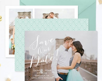 Save the Date Template for Photographers, Save the Date Card Announcement, Photography Templates, Photoshop Templates - SD136