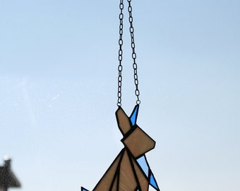 Easter Origami Rabbit Suncatcher