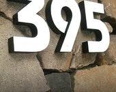 GARDENmarx 7 inch black & white address numbers