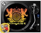 Vinylist Turntable Vinyl Record Slipmat Turntablist DeeJay Music Hip Hop Battle Scratch Dj Slip Mat Next Day Shipping! Makes a Great Gift