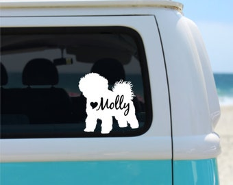 bichon frise decal personalized decal car decal laptop decal window decal ipad decal notebook decal vinyl - Frise Vinyle
