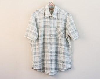 Vintage plaid shirt with a twist - by Wedgefield - Medium