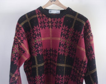 Vintage men's sweater - made in Italy - 1980s