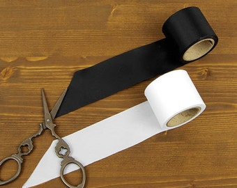 4 cm Poly Bias - Simply Solid -  7 Yards - in Black or White - by the roll 86208