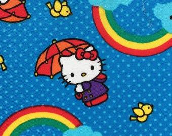Hello Kitty Cotton Fabric - Rainbow - Fat Quarter