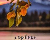 Photography Poster-Explore Poster-Photo Poster-Landscape Poster-Mountain Poster-Lake Poster-College Dorm Decor-Fine Art Print