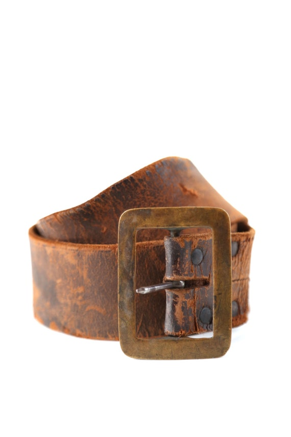 vintage early 1900s brown leather distressed brown leather