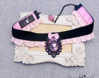 Handcrafted  Coeur de Lolita II necklace, gothic lolita style