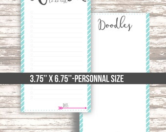 Work To do list for your planner• Doodle page • Peony floral collection • Filofax personal size • DIGITAL printable