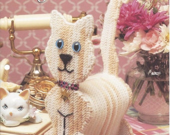 Plastic Canvas Pattern Kitty Bank - The Needlecraft Shop - Cat Bank, Home Decor, Childs Bank, Kids Room