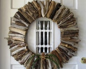 Reserved Large Driftwood Wreath, Rustic Decor, Beach Decor, Vacation Home decor, Christmas wreath, Christmas front door, front door wreath
