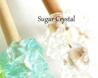 SUGAR CRYSTAL WHITE Fake Rock Candy Christmas Ornament Decoration