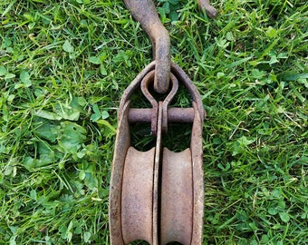 Vintage Double Pulley Barn Pulley Farmhouse