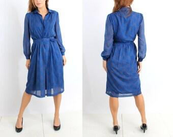 Ein Fink Modell Blue Dress Size 40
