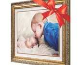 Christmas Gift - Custom Kids Portrait Painting on Canvas from Photo