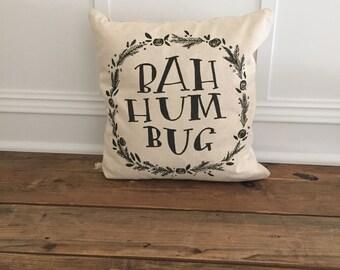 Bah Hum Bug Pillow Cover