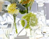 1-8 White Table Numbers, Wedding Table Numbers, Standing Table Numbers, Table Numbers
