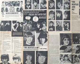 THE BEATLES ~ John Lennon, Paul McCartney, George Harrison, Ringo Starr, Love Me Do ~ B&W Articles from 1966 - Batch 3