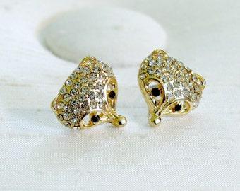 Fox Earrings ~ Racoon Earrings ~ Woodland Creature Earrings ~ Wildlife Earrings ~ Animal Face Earrings ~ Pierced Post Stud