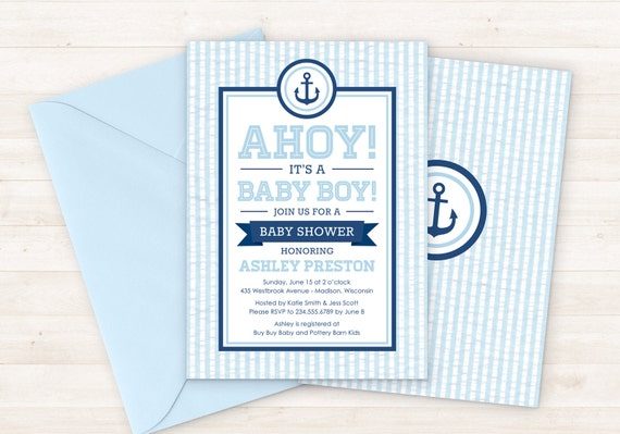 invitation il listing shower its a blue s baby invitations boy red chevron it ahoy
