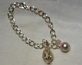 Stunning Sterling Silver Aromatherapy Teardrop Locket Bracelet