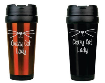 Crazy Cat Lady 16oz Travel Mug
