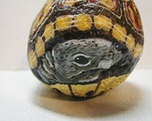 Garden Box Turtle hand painted rock