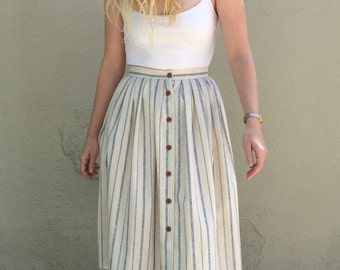 Vintage button front skirt