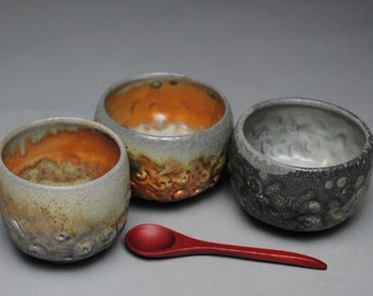 Condiment Set Wood Fired  with Spoon D34