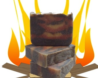 Campfire Soap, Smoke Soap, Mens Soap, Natural Soap, Hand and Body Soap, Lotions and Potions