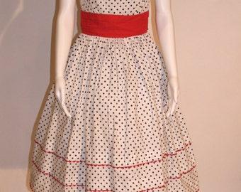1950s Vintage Polka Dot Dress, Vintage Dresses, Vintage 50s