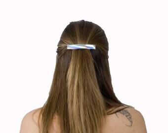 Metallic Bar Clip Holographic Hair Accessories French Clip Barrette