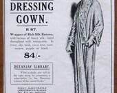 Dickins and Jones, 1918, vintage, ad, original, dressing gown, fashion, English, advertisement, free shipping, paper, ephemera