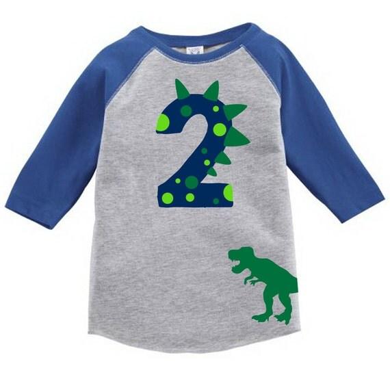 Custom Dinosaur Toddler Birthday Number Shirt With Name On
