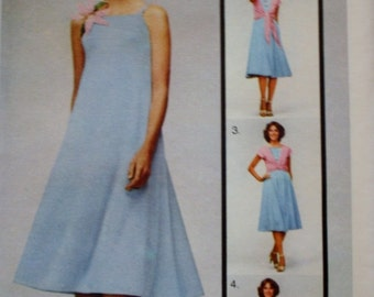 Dress Top and Wrap Butterick 5380 Vintage Sewing Pattern One Size