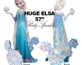 ELSA Balloon, Elsa Party Decor, USA GIANT Airwalker Balloon, Frozen Theme Birthday, Disney Princess Decor, Elsa Birthday Party