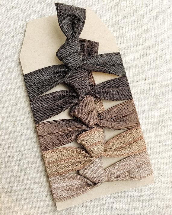 Smokey Nudes- Gift Set of 5 Perfect Hair Ties