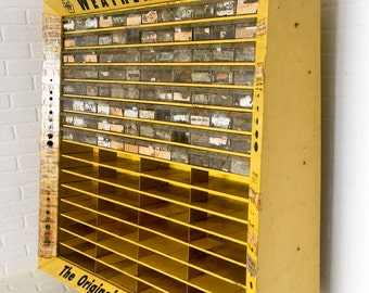 Vintage Large Weatherhead Tool Parts Bin Cabinet Advertising Display Hardware Store