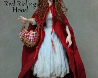 OOAK Art Doll Sculpture - Red Riding Hood by Ksheyna Nightswood