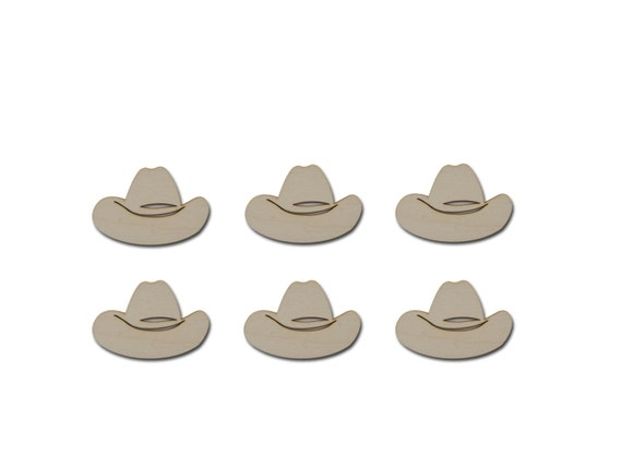 Cowboy Hat Shape Wood Cut Out Unfinished Western Wooden Shapes
