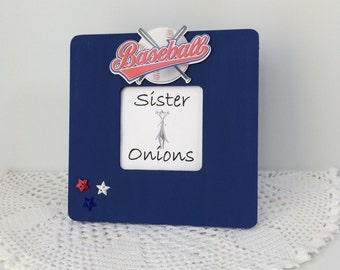 Game Day - Baseball Picture Frame - Embellished Baseball Sports Picture Frame