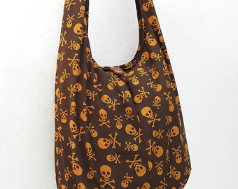 Women bag Handbags Cotton bag Skeleton Hippie Hobo bag Boho bag Shoulder bag Sling bag Messenger bag Tote bag Crossbody bag Purse Brown