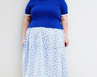 CLEARANCE FINAL SALE - Plus Size - Vintage Blue Pullover Sweater (Size Xl 16/18)