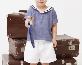 Baby boy shorts Toddler boy shorts Linen shorts White Linen shorts Summer shorts Boys clothes Diaper cover Ring bearer shorts Baptism shorts