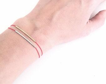 Silver bar bracelet, Friendship bracelet, Simple everyday jewelry, Minimalist Layering bracelet