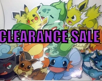 Clearance  On Sale Pokemon Stickers