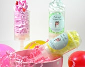 Push Pop Whipped Soap-Spa Party favors-Girls Spa party-Kids Soaps-Pink Soap-Bath Bakery-Pineapple Punch