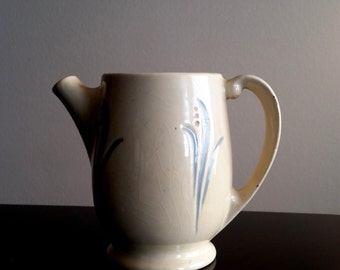 Roseville Pottery Pitcher Utility Ware RARE Ceramic, Lily of the Valley Pattern